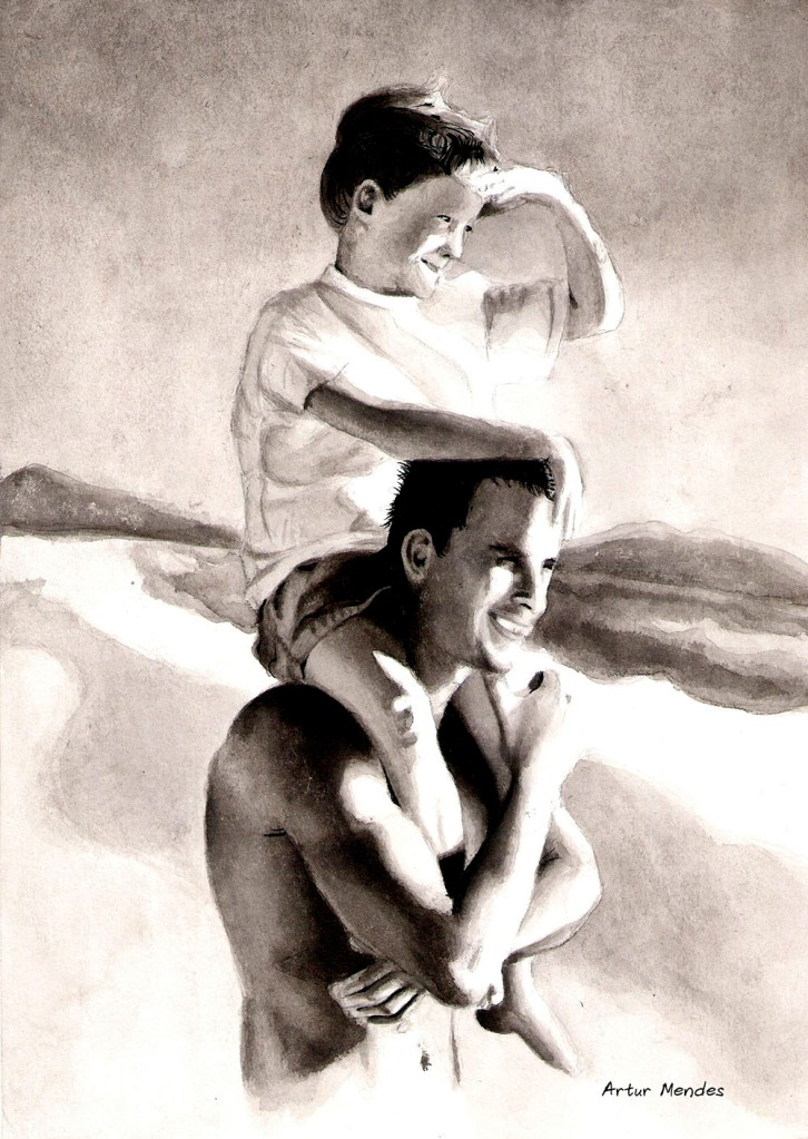 Ink wash paintingInk Wash Painting Of People