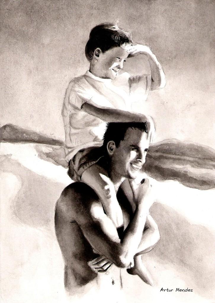 Ink wash paintingInk Wash Painting Of People